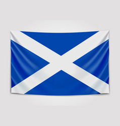 hanging flag of scotland scotland national flag vector image