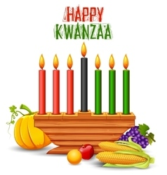 Happy Kwanzaa greetings for celebration of African vector