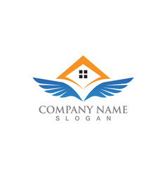 Home logo and symbols template app vector