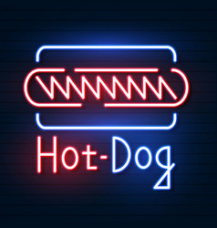 hot dog neon sign neon sign bright signboard vector image