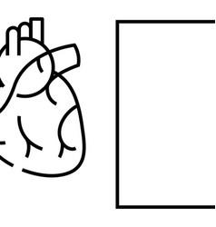 Internal organ heart line icon concept sign vector