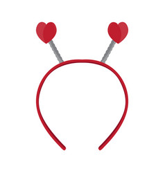 Isolated headband icon with heart shape ears vector
