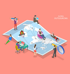 Isometric flat concept global vector