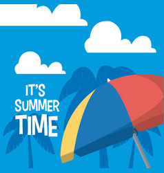 its summer time card vector image