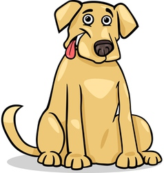 labrador retriever dog cartoon vector image
