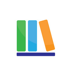 library book icon logo image vector image