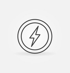lightning in circle outline icon vector image