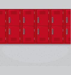 Locker in the hallway vector