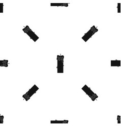 Memorial candle pattern seamless black vector