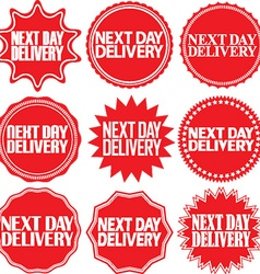 Next day delivery signs set Next day delivery vector