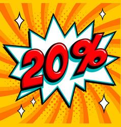 Orange sale web banner super sale twenty percent vector