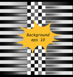 racing square abstraction in racing chess style vector image