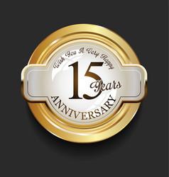 retro vintage style anniversary golden design 15 vector image