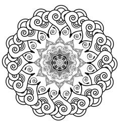 Rosette style mandala flower vector