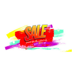 sale creative advertising sales with discounts vector image