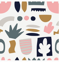 seamless pattern with cut out elements vector image