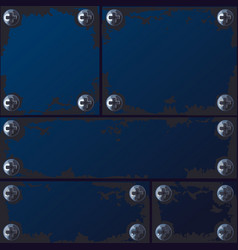seamless texture made of metal plates vector image