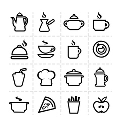 simple food icons vector image