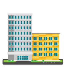 single city office building in flat style vector image vector image