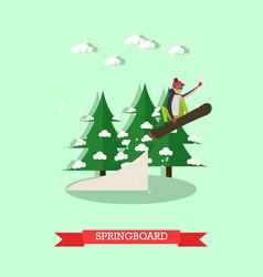 springboard in flat design vector image