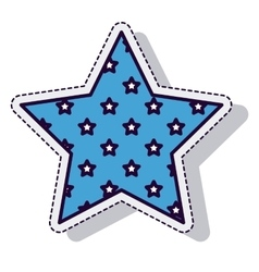 star american isolated icon vector image