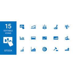 stock icons vector image