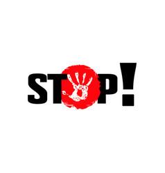 Stop access ban poster vector