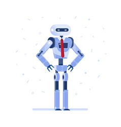 successful robot businessman with a tie vector image