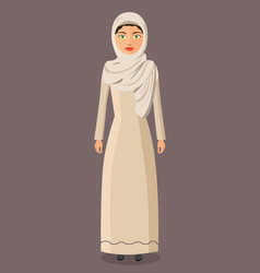 The beautiful muslim woman in a hijab vector