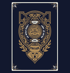 Vertical old whiskey card vector