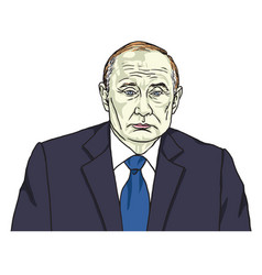 vladimir putin the president of russia cartoon vector image