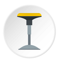 Yellow bar stool icon circle vector