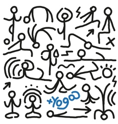 yoga doodles vector image