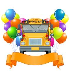 American school bus vector image vector image