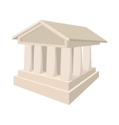 Bank icon in cartoon style vector image