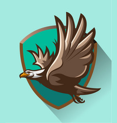 eagle flight vector image