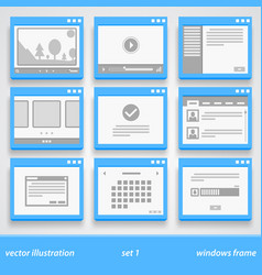 flat windows frame set 1 vector image