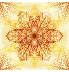 Hand drawn beige ornament vector image