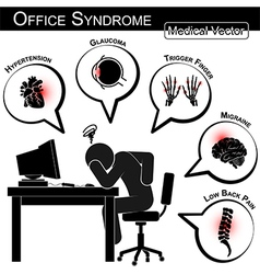 Office Syndrome vector image vector image