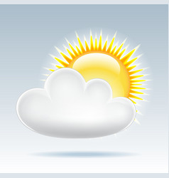 Sun with cloud floats in the sky vector image