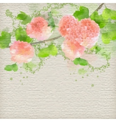 Watercolor Creative Background vector image