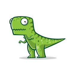 cartoon funny t-rex vector image