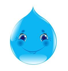 Cartoon Water Drop vector image