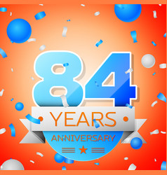 eighty four years anniversary celebration vector image vector image