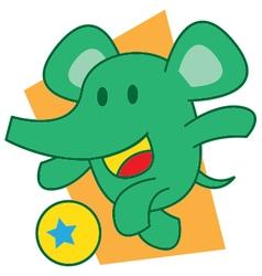 Elephant Ball vector image