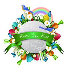 happy ester card vector image vector image