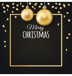 Merry Christmas background with place for text vector image