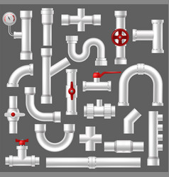 pipe plumbing pipeline or piped tubing vector image