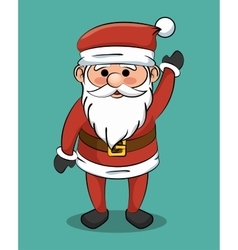 santa claus greets icon design vector image