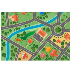suburb map vector image